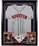 Houston Astros Team Autographed Replica Jersey & 8x10 Photos with Premium Frame