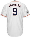 Marwin Gonzalez Unsigned Houston Astros White Replica Jersey with WS Champs Patch