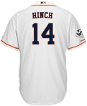 A.J. Hinch Unsigned Houston Astros White Replica Jersey with WS Champs Patch