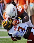 Malik Jefferson Autographed Texas Longhorns 8x10 Photo