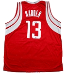 James Harden Autographed Houston Rockets Red Custom Jersey
