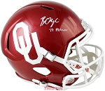 Baker Mayfield Autographed Oklahoma Sooners Full Size Replica Helmet Inscribed 17 Heisman
