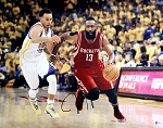 James Harden Autographed Houston Rockets Dribbling 16x20 Photo