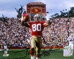 Jerry Rice Autographed San Francisco 49ers Touchdown 8x10 Photo