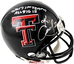 Keke Coutee Autographed Texas Tech Mini Helmet Inscribed 2017 1st Team All Big 12