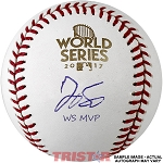 George Springer Autographed 2017 World Series Baseball Inscribed WS MVP