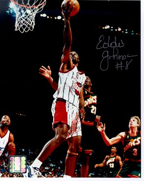 Eddie Johnson Autographed Houston Rockets 8x10 Photo