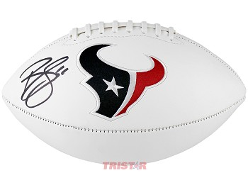 Brian Cushing Autographed Houston Texans Logo Football