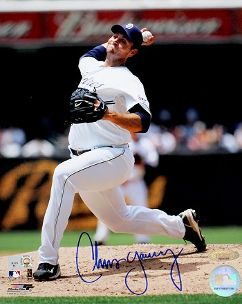 Chris Young Autographed San Diego Padres 8x10 Photo