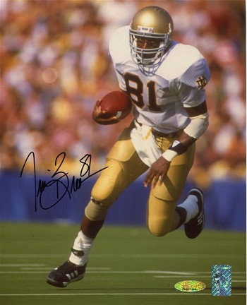 Tim Brown Autographed Notre Dame Fighting Irish 8x10 Photo
