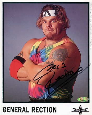 General Rection Autographed Wrestling 8x10 Photo