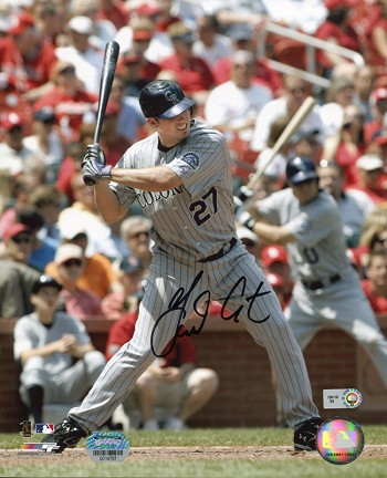 Garrett Atkins Autographed Colorado Rockies 8x10 Photo