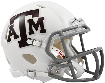Texas A&M White Speed Replica Mini Helmet