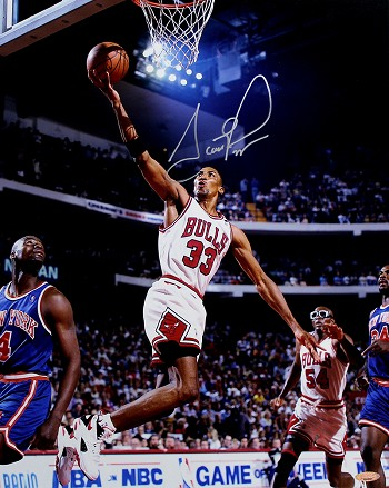 Scottie Pippen Autographed Chicago Bulls 16x20 Photo