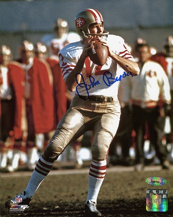 John Brodie Autographed San Francisco 49ers 8x10 Photo