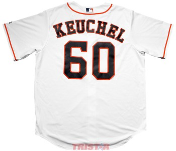 Dallas Keuchel Unsigned Houston Astros White Replica Jersey