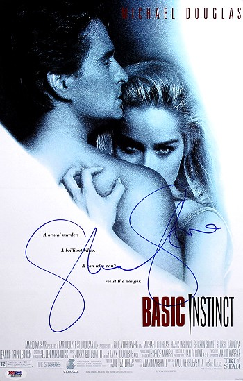 Sharon Stone Autographed Basic Instinct 11x17 Mini Movie Poster
