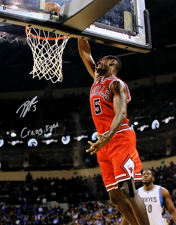 Bobby Portis Autographed Chicago Bulls 16x20 Photo Inscribed Crazy Eyes