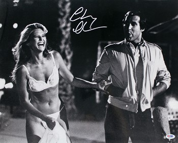 Chevy Chase Autographed Vacation with 'The Girl in the Ferrari' 16x20 Photo