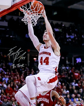 Frank Kaminsky Autographed Wisconsin Badgers 16x20 Photo Inscribed The Tank