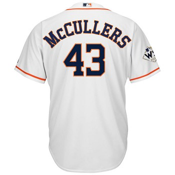 Lance McCullers Jr. Unsigned Houston Astros White Replica Jersey