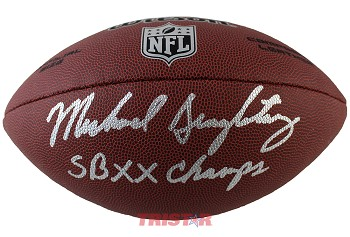 Mike Singletary Autographed Wilson Platinum NFL Football Inscribed SB XX Champs