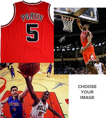 Bobby Portis Autographed Chicago Bulls 16x20 Photo & Jersey Combo