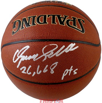 Dominique Wilkins Autographed Spalding I/O NBA Basketball 26,668 Points