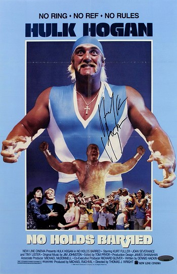 Hulk Hogan Autographed No Holds Barred 11x17 Mini Movie Poster