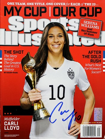 Carli Lloyd Autographed July 2015 Sports Illustrated Magazine