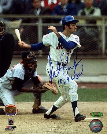 Art Shamsky Autographed New York Mets 8x10 Photo Inscribed 1969 WSC