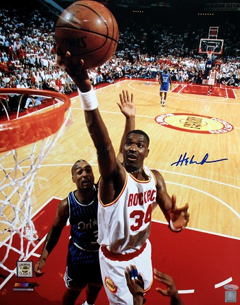 Hakeem Olajuwon Autographed Houston Rockets 16x20 Photo
