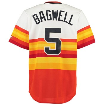 Jeff Bagwell Unsigned Astros Cooperstown Throwback Replica Rainbow Jersey