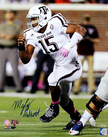 Myles Garrett Autographed Texas A&M Aggies Action 16x20 Photo