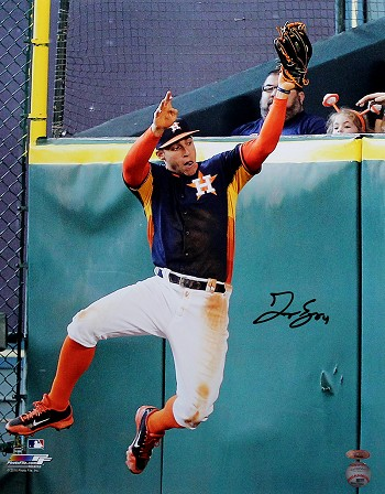 George Springer Autographed Houston Astros Catch 16x20 Photo