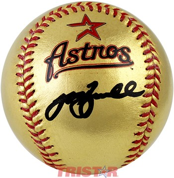 Jeff Bagwell Autographed Houston Astros Gold Baseball