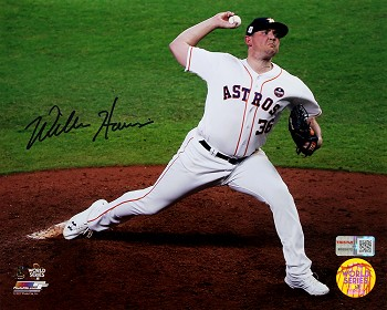 Will Harris Autographed Houston Astros 8x10 Photo