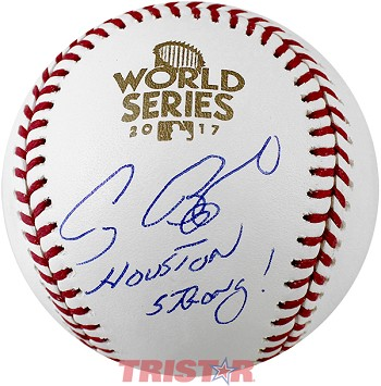 Craig Biggio Autographed 2017 World Series Baseball Inscribed Houston Strong