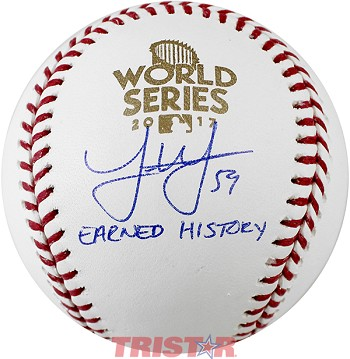 Joe Musgrove Autographed 2017 World Series Baseball Inscribed Earned History