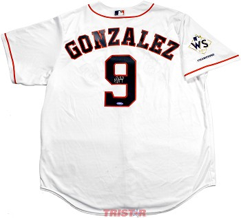 Marwin Gonzalez Autographed Houston Astros Replica Jersey with WS Champs Patch