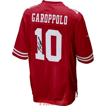 Jimmy Garoppolo Autographed San Francisco 49ers Nike 'Game' Red Replica Jersey
