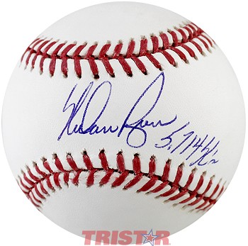 Nolan Ryan Autographed Official ML Baseball Inscribed 3714 K's