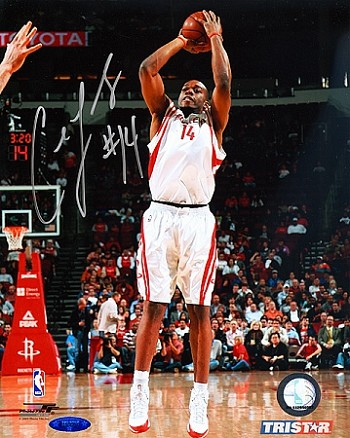 Carl Landry Autographed Houston Rockets 8x10 Photo