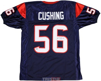 Brian Cushing Autographed Houston Texans Custom Blue Jersey