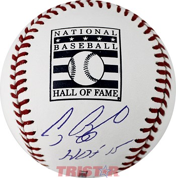 Craig Biggio Autographed Official Hall of Fame Baseball Inscribed HOF 15