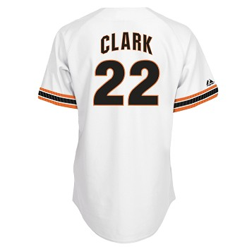 Will Clark Unsigned White Giants Majestic Replica Jersey