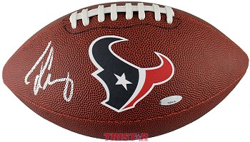 Jadeveon Clowney Houston Texans Autographed Game Time Logo Football