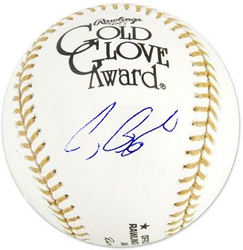 Craig Biggio Autographed Official Gold Glove Baseball