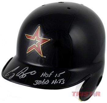 Craig Biggio Autographed Astros Mini Batting Helmet Inscribed 3060 Hits & HOF 15