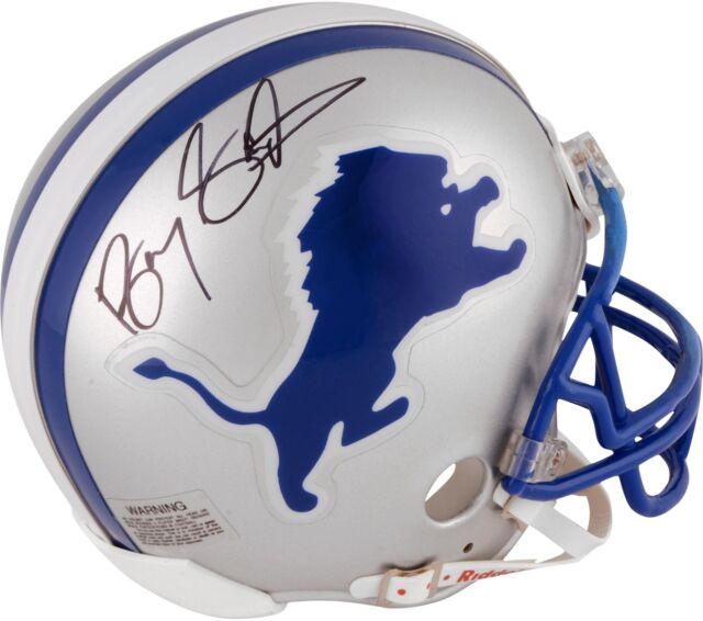 low priced 7e8eb df884 Barry Sanders Autographed Detroit Lions Mini Helmet